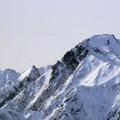 五竜岳と冬の青鬼集落