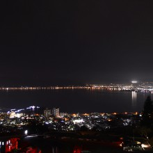 諏訪市立石公園の夜景