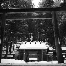 冬の仁科神明宮