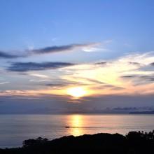 山口県萩市 笠山からの夕景