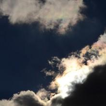 白馬五竜アルプス平から見た彩雲