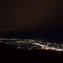 信州三景杖突峠(伊那市~茅野市)の夜景