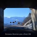 国道406号線白沢峠から見た北アルプスの絶景(長野県白馬村)